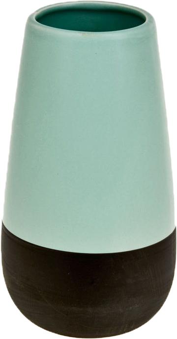Ваза декоративная ArtHouse Пастель, цвет: бирюзовый, черный, высота 20,5 см ваза двухцветная adria