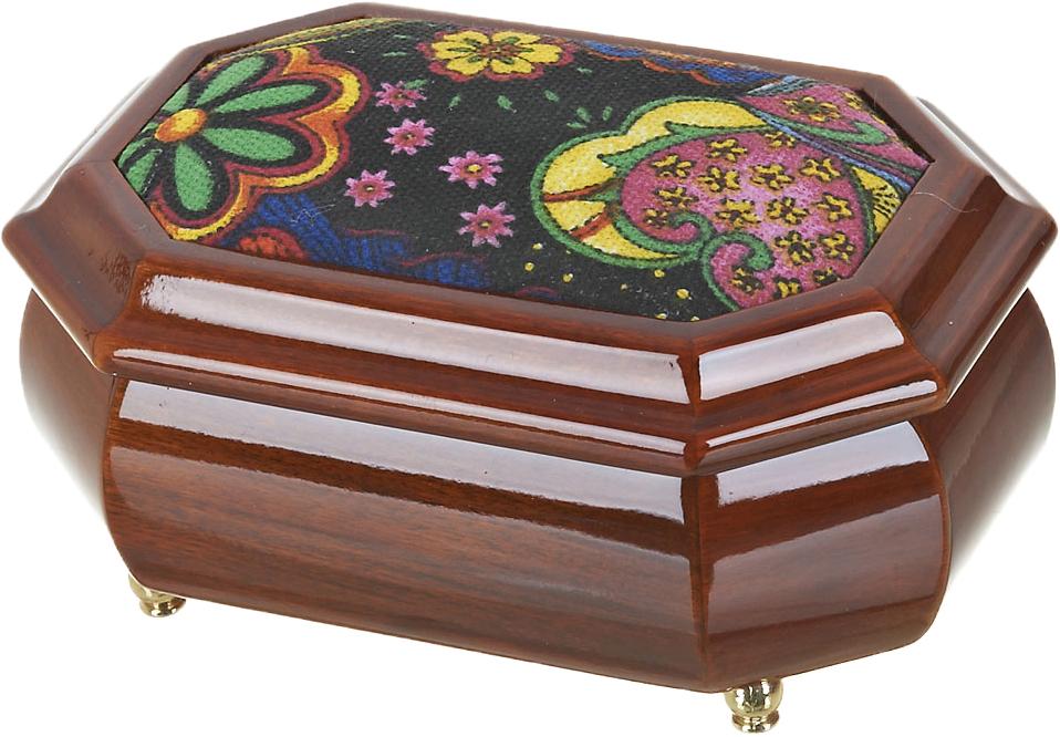 Шкатулка для ювелирных украшений ArtHouse Цветочная поляна, цвет: коричневый, 16 х 11,5 х 7 см статуэтка arthouse балет 21 10 7 см