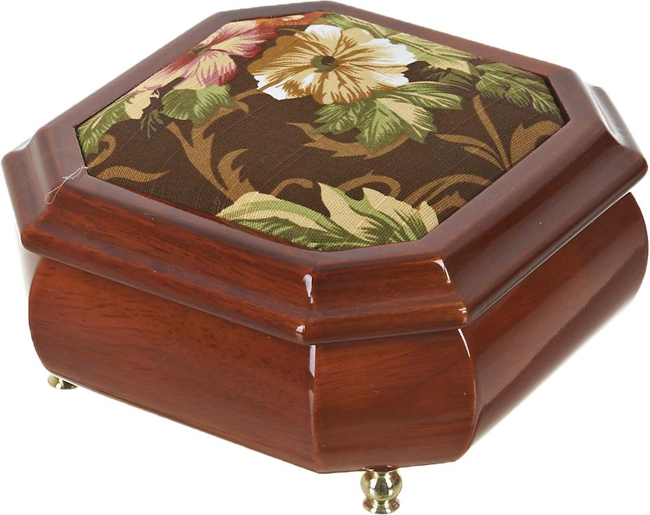 Шкатулка для ювелирных украшений ArtHouse Цветочная поляна, цвет: коричневый, 15 х 15 х 8 см. 5800045