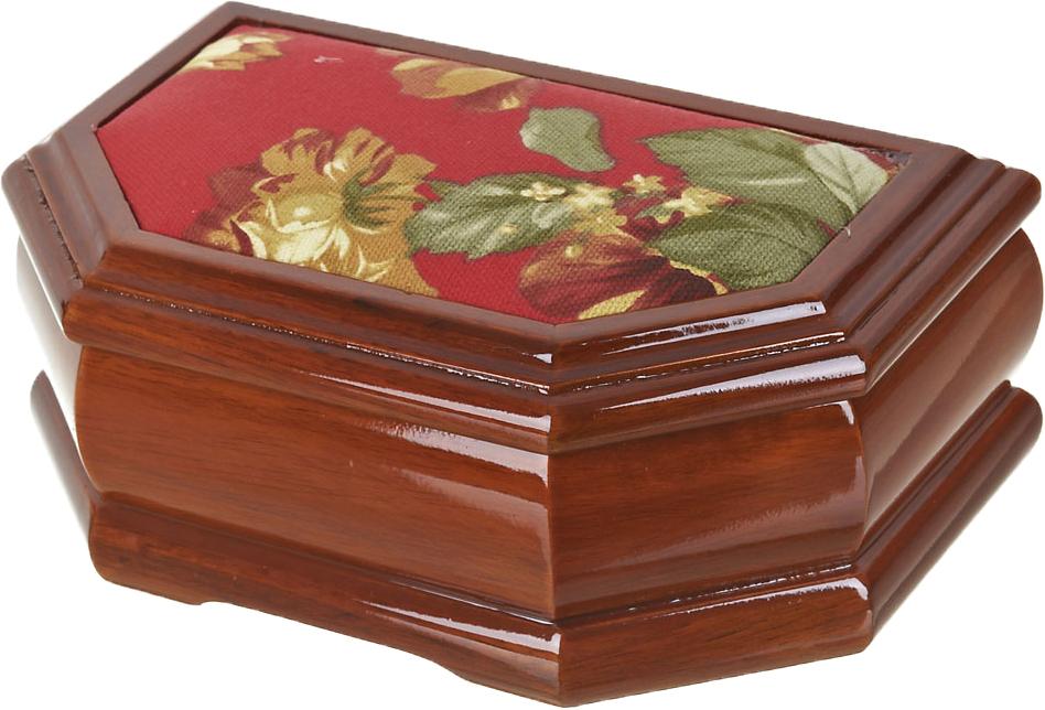 Шкатулка для ювелирных украшений ArtHouse Цветочная поляна, цвет: коричневый, 20 х 13 х 8,5 см