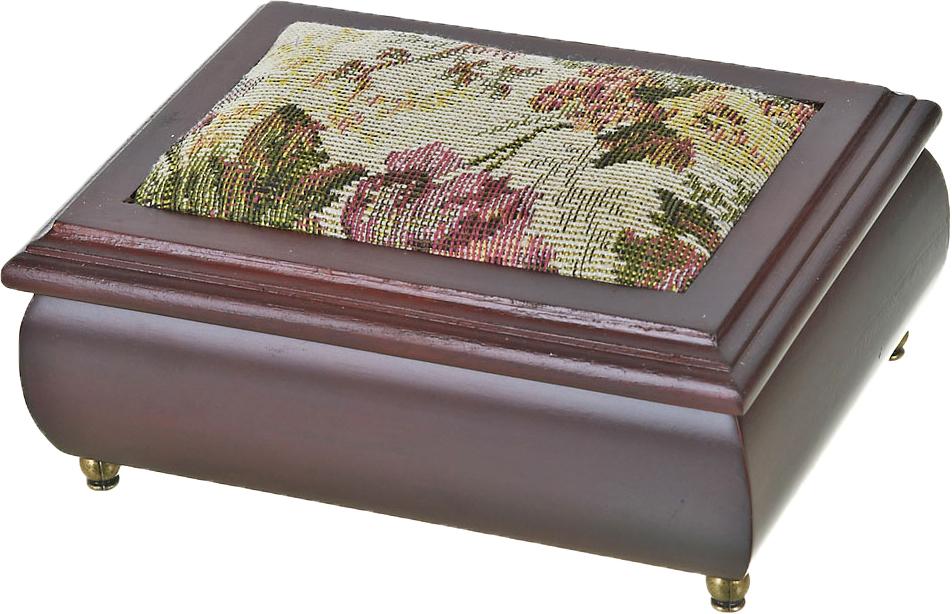 Шкатулка для ювелирных украшений ArtHouse Цветочная поляна, цвет: коричневый, 17 х 12,5 х 8 см