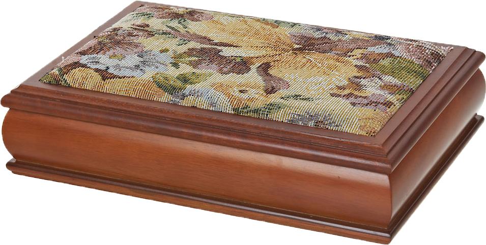 Шкатулка для ювелирных украшений ArtHouse Цветочная поляна, цвет: коричневый, 30,5 х 20 х 8 см