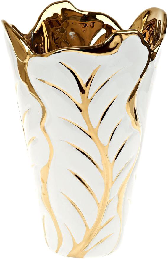 Ваза декоративная ENS Group Роскошь, цвет: белый, высота 30 см