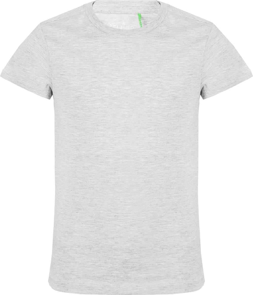 Футболка для мальчика Sela, цвет: серый меланж. Ts-811/1101-8320. Размер 152