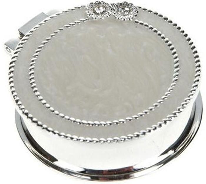 Шкатулка декоративная ENS Group, цвет: серебристый, диаметр 5,5 см