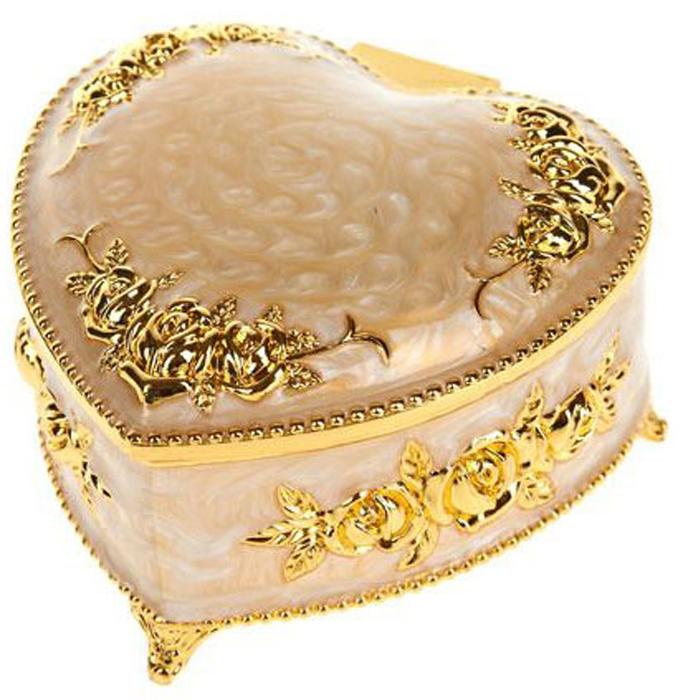 Шкатулка декоративная ENS Group, цвет: золотистый, 8 х 8 х 5 см