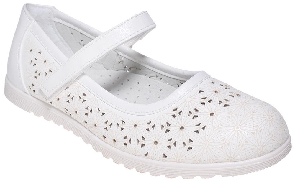 Туфли для девочки Мифер, цвет: белый. 7213E-6. Размер 35