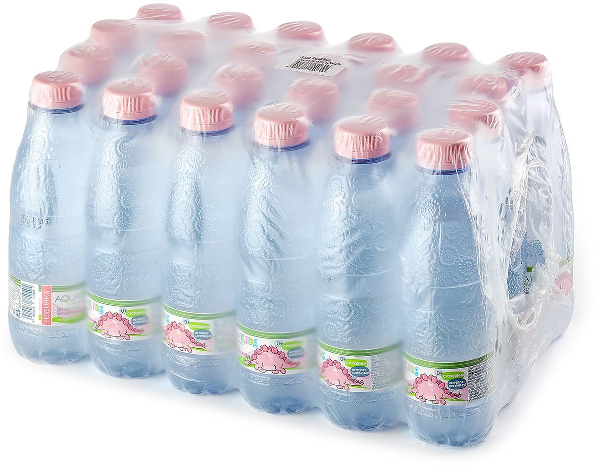 Вода AquaKids детская питьевая с рождения, розовая, 24 шт по 0.25л черноголовская детская вода питьевая артезианская 12 шт по 0 33 л