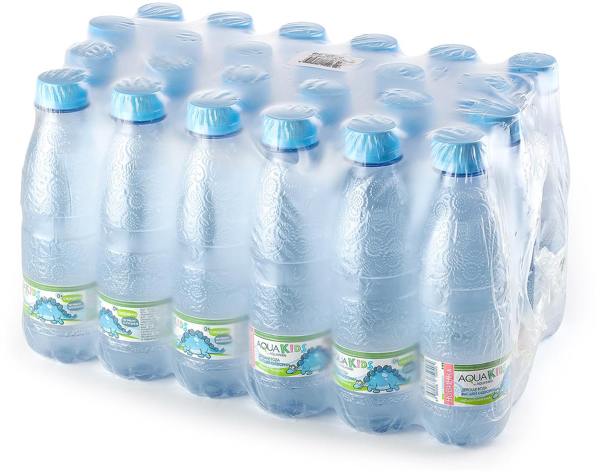 Вода AquaKids детская питьевая с рождения, голубая, 24 шт по 0.25 л вода расти большой вода детская 0 5 л