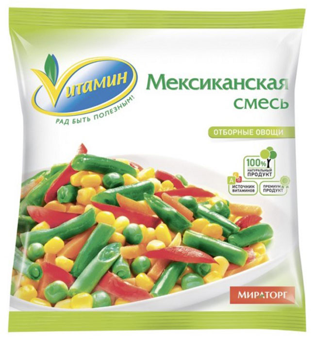 Мексиканская смесь Vитамин, 400 г bonduelle зеленый горошек с морковью в кубиках 400 г