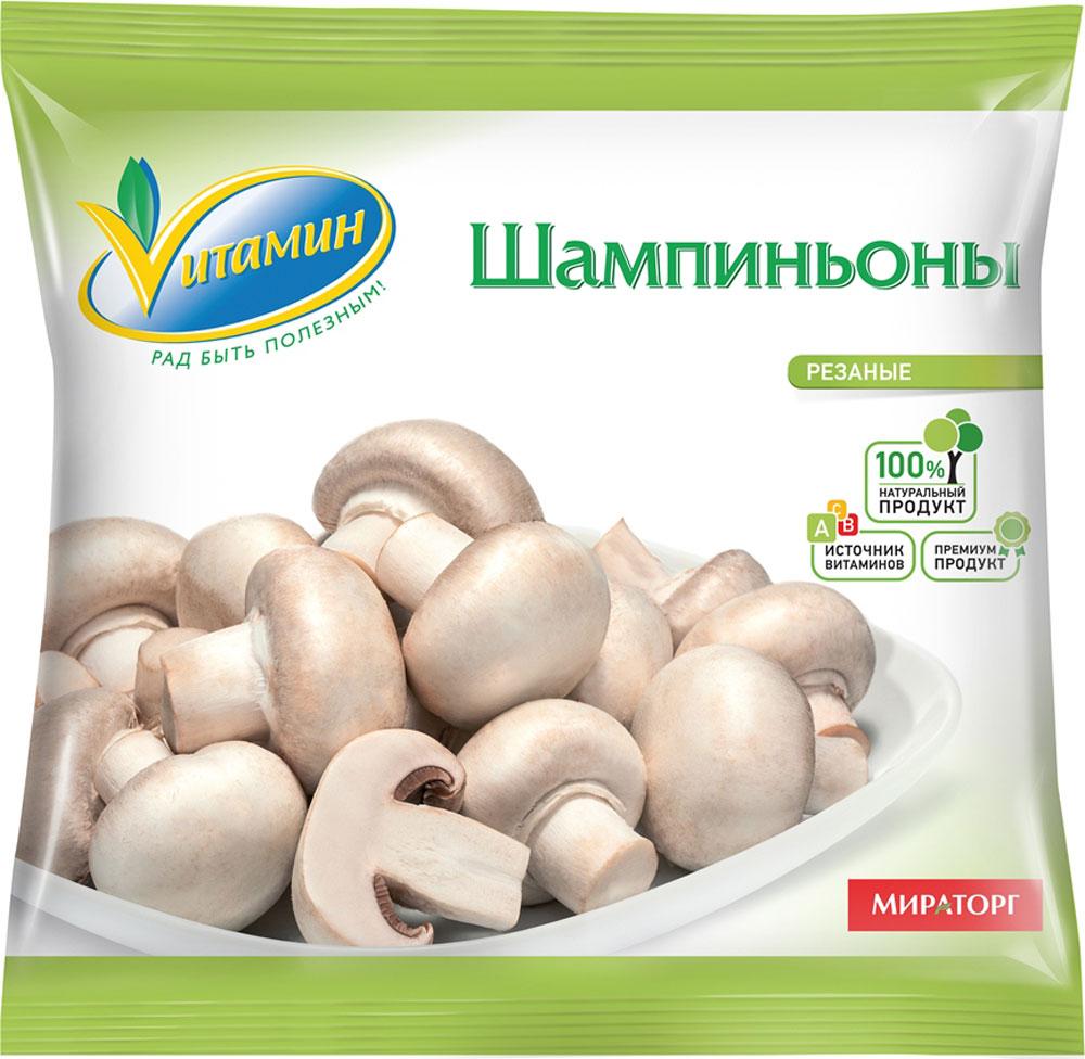 Шампиньоны резаные Vитамин, 400 г грибы vitaland виталанд шампиньоны резаные 425г ж б