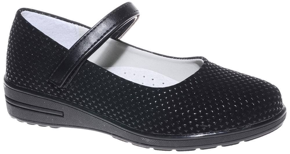 Туфли для девочки Мифер, цвет: черный. 7217B-1. Размер 30