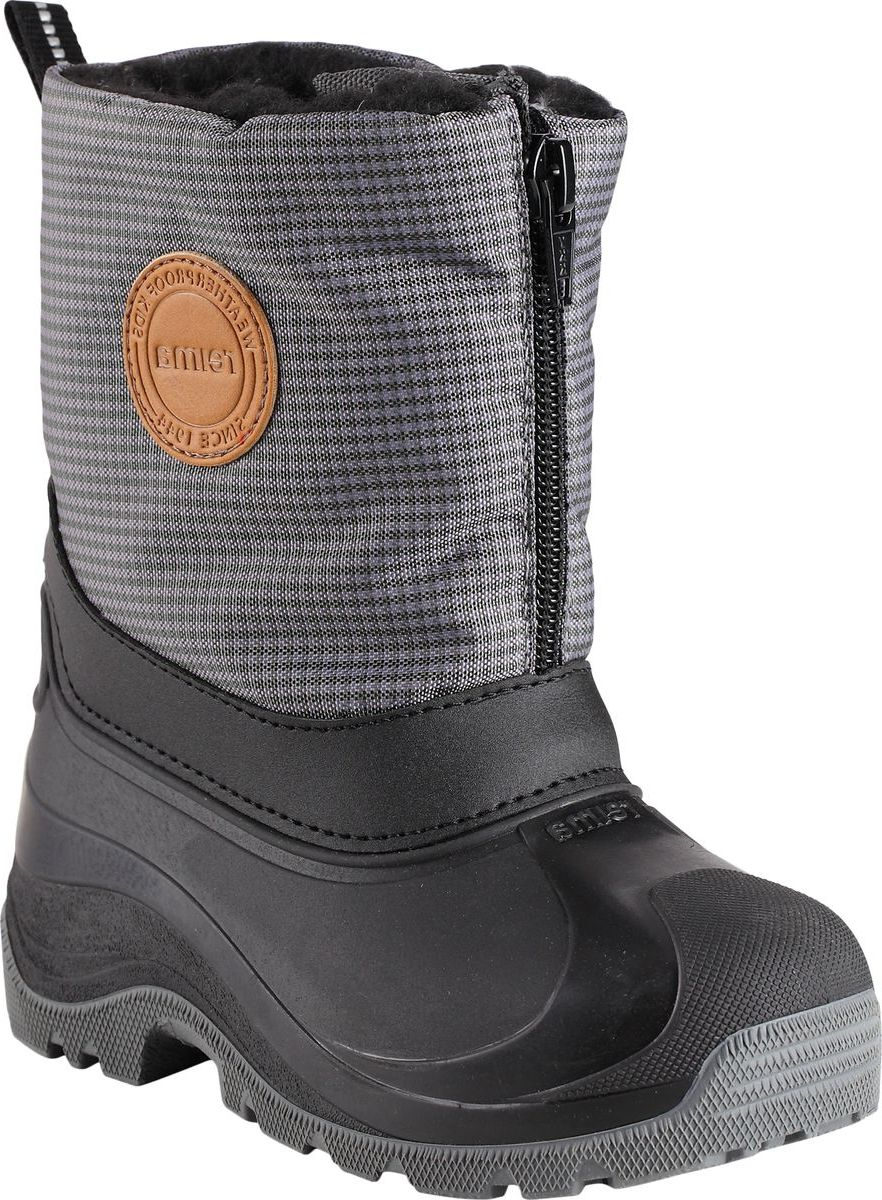 Ботинки детские Reima Nanook, цвет: серый. 5693579481. Размер 24