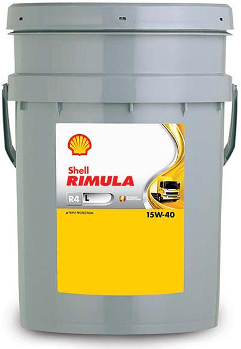Купить Масло моторное Shell для дизельных двигателей Rimula R4 L 15W/40 (CJ-4), 20 л