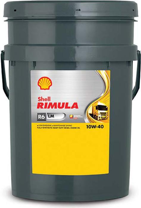 Купить Масло моторное Shell для дизельных двигателей Rimula R6 LM 10W40 (E7, 228, 51), 20 л