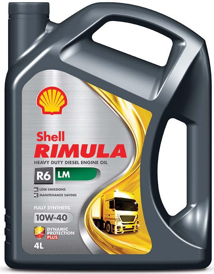 Купить Масло моторное Shell для дизельных двигателей Rimula R6 LM 10W40 (E7, 228, 51), 4 л