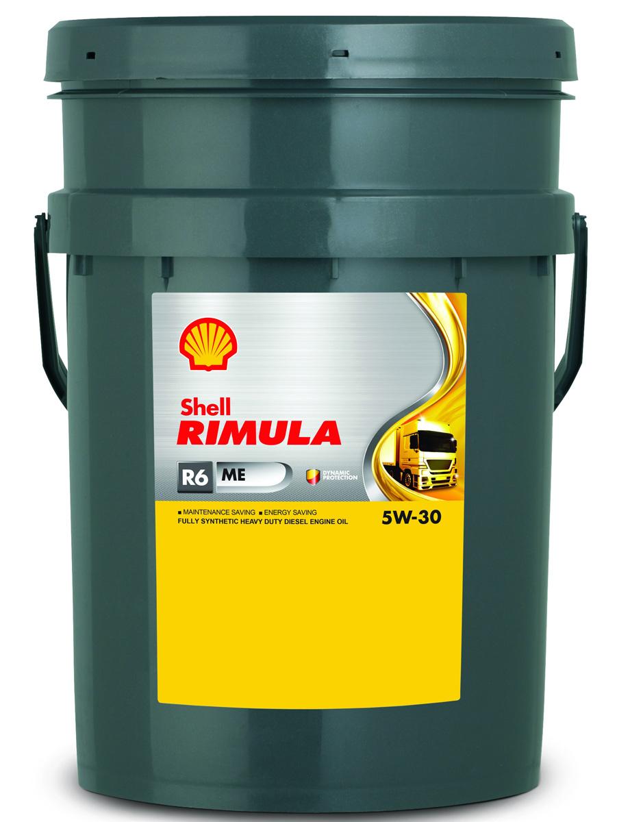 Купить Масло моторное Shell для дизельных двигателей Rimula R6 ME 5W/30 (E4, 228.5), 20 л