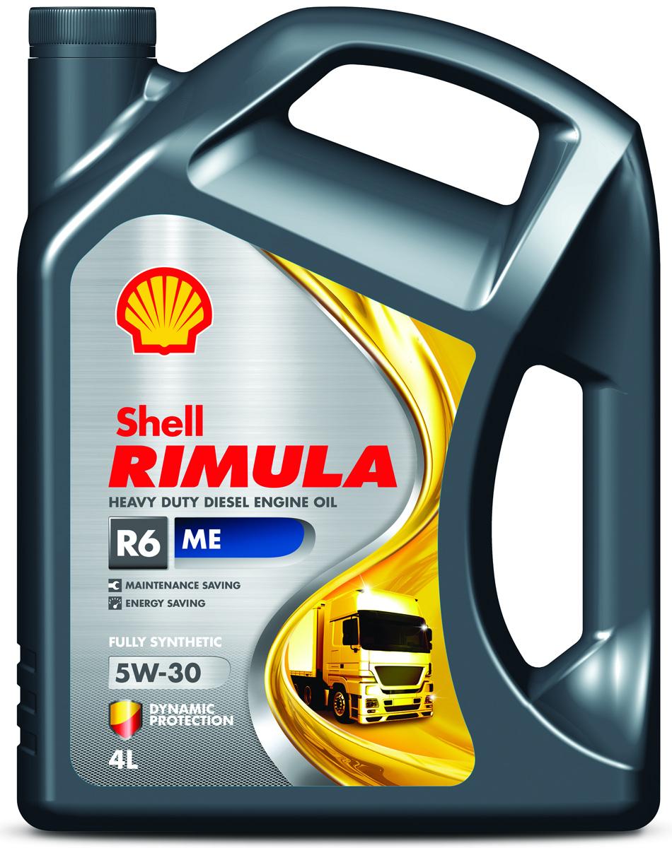 Купить Масло моторное Shell для дизельных двигателей Rimula R6 ME 5W/30 (E4, 228.5), 4 л