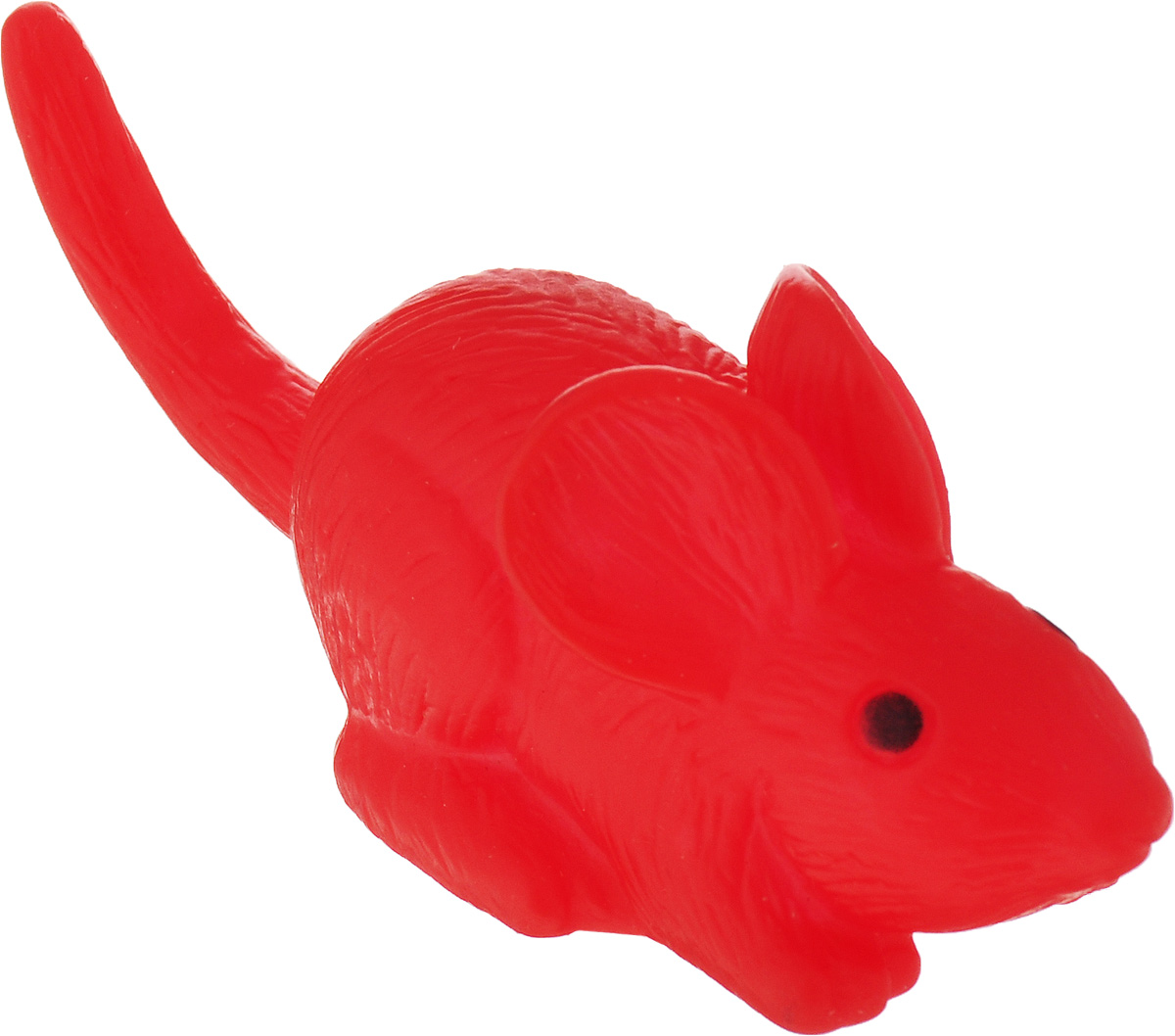 Игрушка для собак Уют Мышь, цвет: красный, 9 x 3,5 см игрушка для собак уют сыр с мышкой 11 x 5 см
