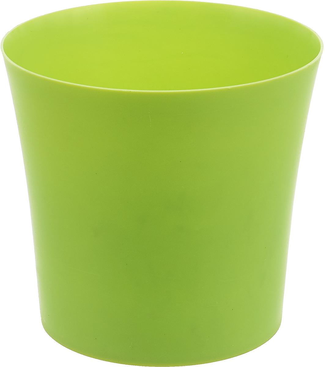 Кашпо Form-Plastic Фиолек, цвет: салатовый, диаметр 12,5 см