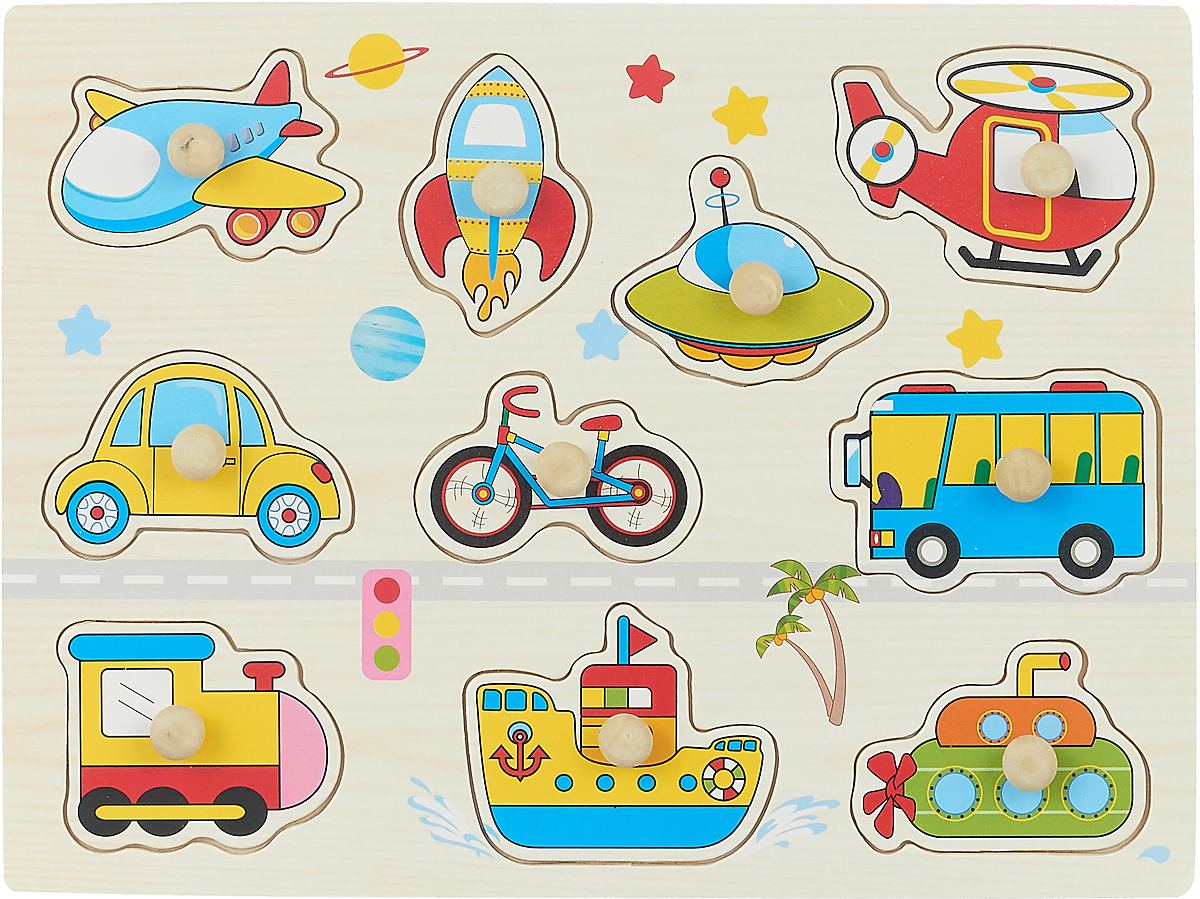 Фабрика Фантазий Пазл для малышей Транспорт 3