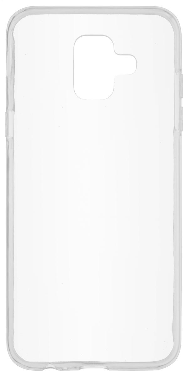 Skinbox Slim Silicone чехол для Samsung Galaxy A6 (2018), Transparent чехлы для телефонов skinbox накладка skinbox slim silicone для meizu pro 6