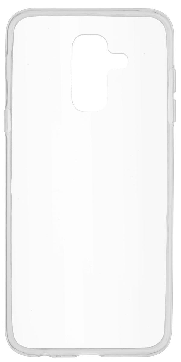 Skinbox Slim Silicone чехол для Samsung Galaxy A6+ (2018), Transparent чехол флип skinbox slim aw для samsung galaxy a3 черный