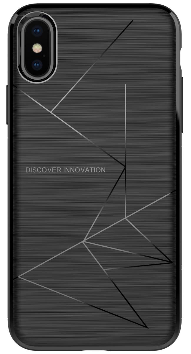 Nillkin Magic Case чехол для Apple iPhone X, Black nillkin liquid silicone shockproof soft case for iphone x black