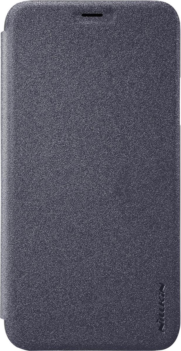 Nillkin Sparkle Leather Case чехол для Apple iPhone X, Black цена и фото
