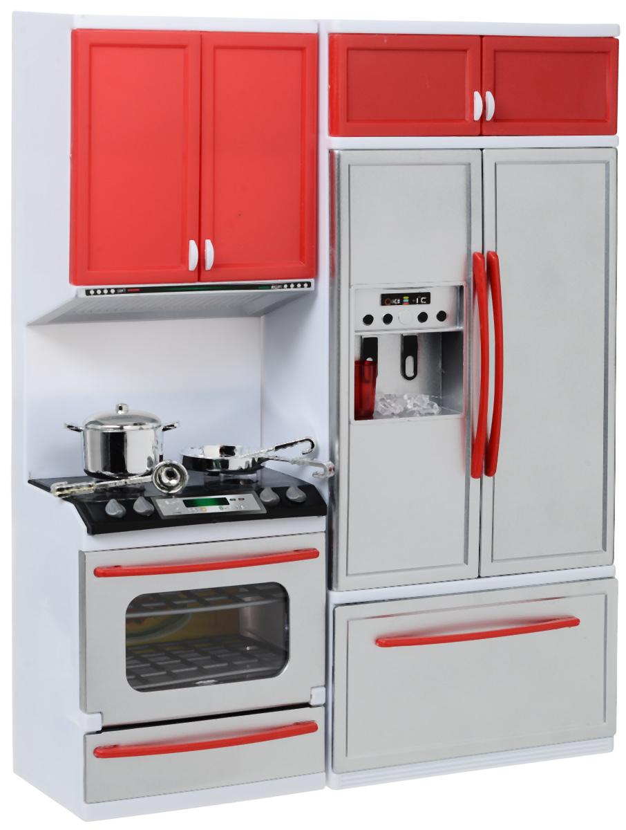 Фото DollyToy Мебель для кукол Стильная кухня с мойкой и микроволновой печью