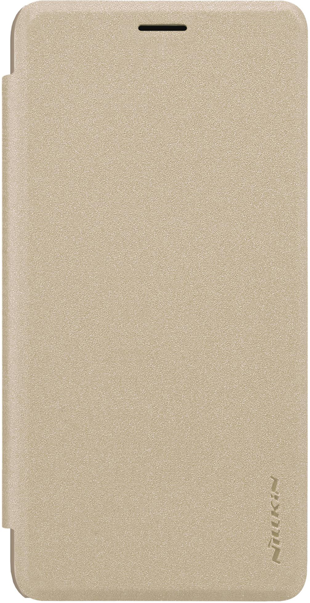 Nillkin Sparkle Leather Case чехол для Meizu M6 Note, Gold nillkin sparkle leather case чехол для sony xperia xz1 gold