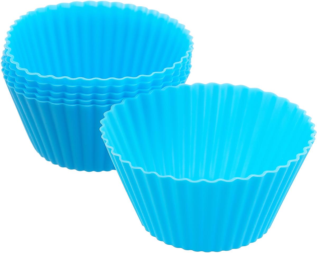 """Форма для панкейков силиконовая """"Mayer & Boch"""", цвет: голубой, 85 мл, 6 шт. 28057-1"""