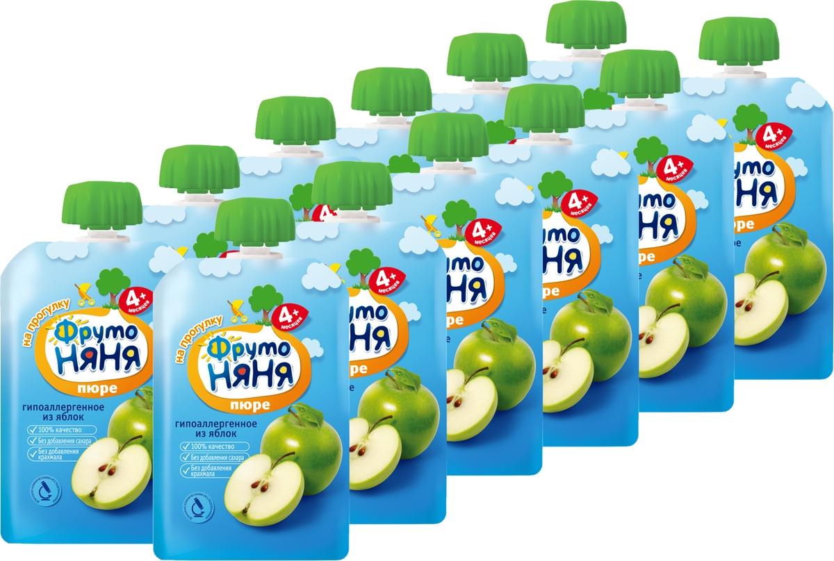 Пюре ФрутоНяня из яблок с 4 месяцев, 12 шт по 90 г фрутоняня пюре десерт из манго апельсина яблока и банана с 7 месяцев 90 г