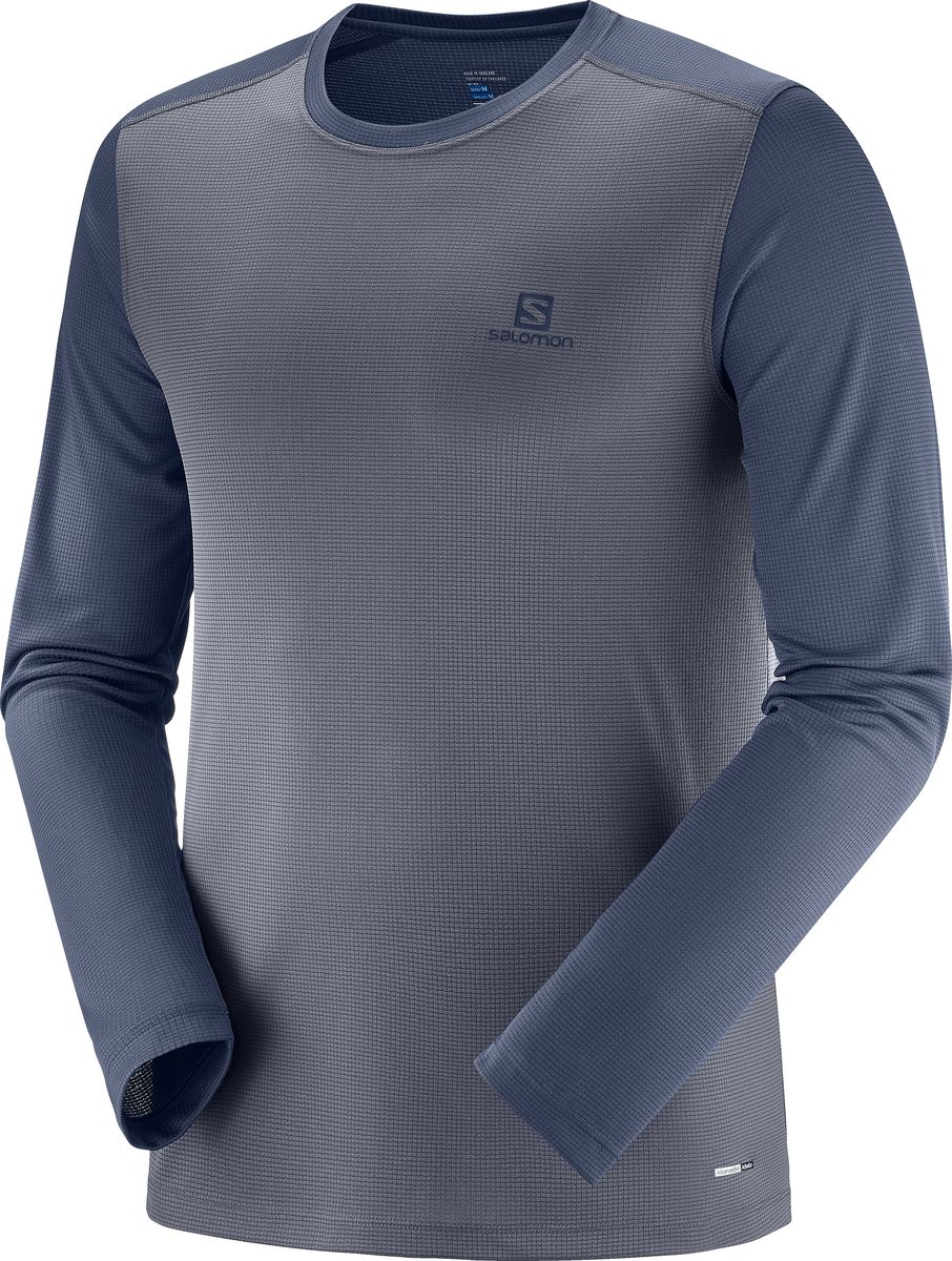 Лонгслив мужской Salomon Stroll Ls Tee, цвет: серый. L40406300. Размер  (50)