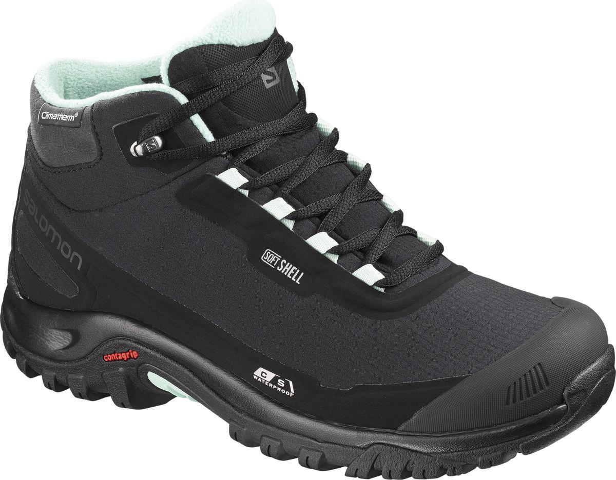 Ботинки женские Salomon Shelter CS WP, цвет: черный. L40473100. Размер 8 (40,5)