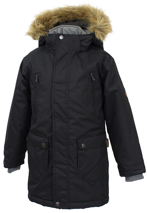 Куртка для мальчика Huppa Vesper, цвет: черный. 17480030-70009. Размер 158/164