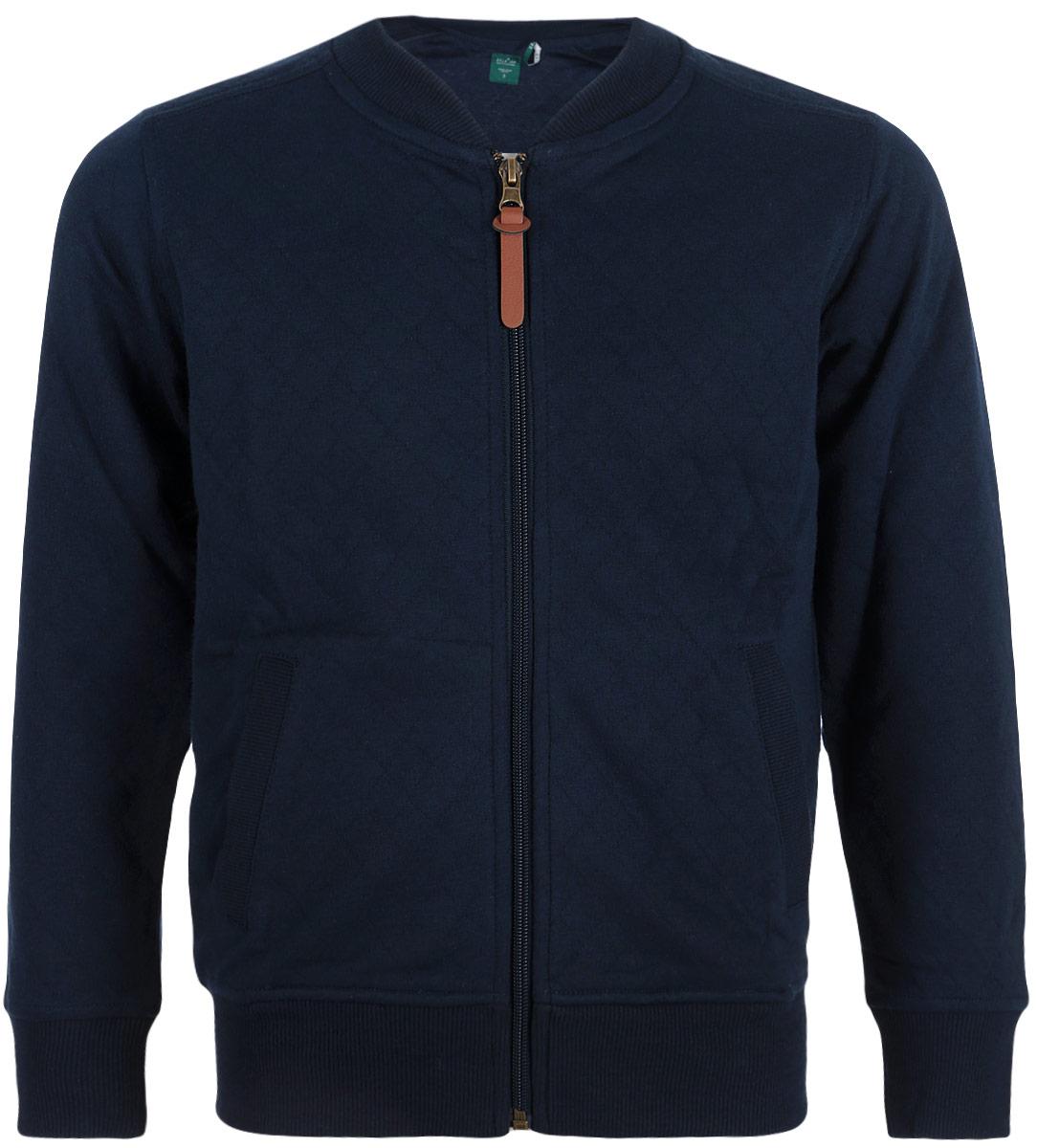 Куртка для мальчика Sela, цвет: темно-синий. Stc-813/180-8310. Размер 128