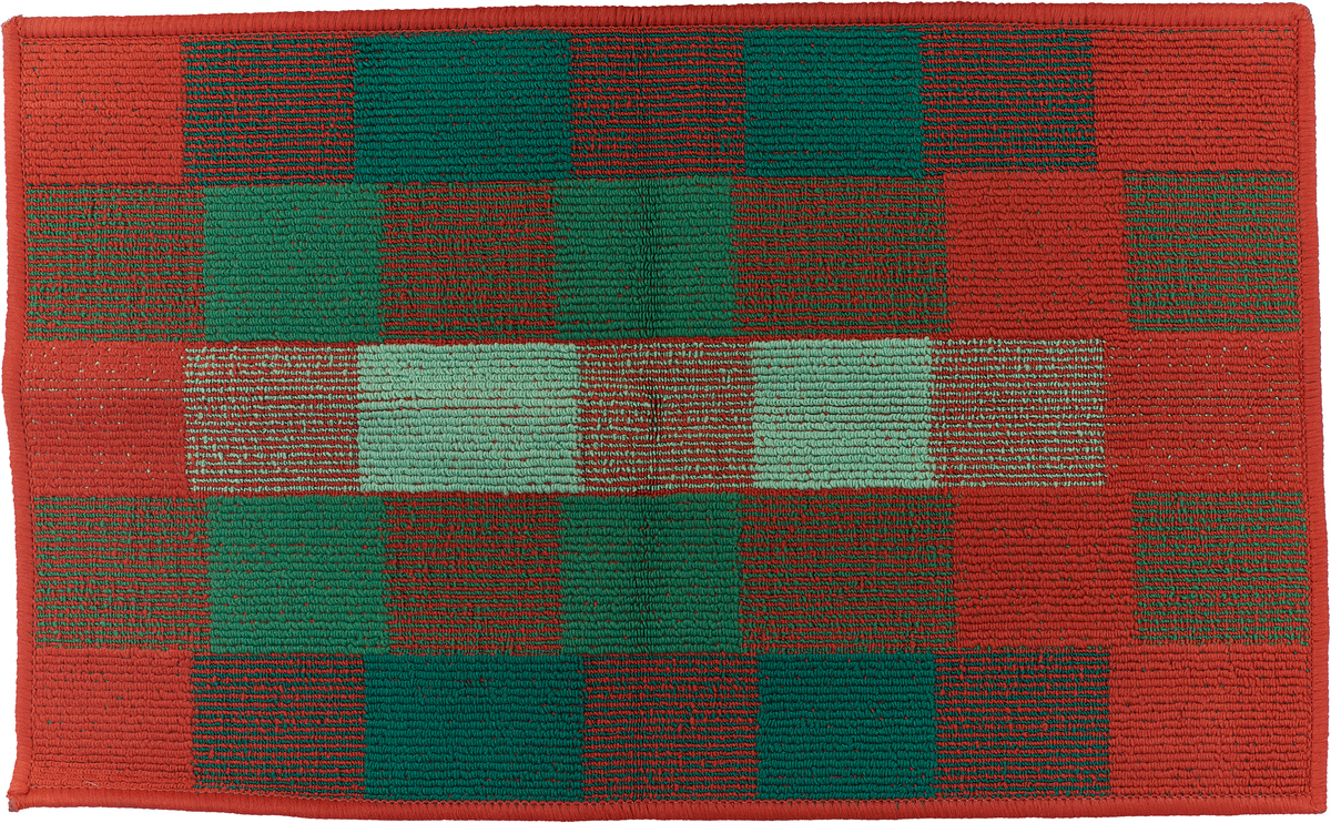 Коврик придверный Vortex Palermo, цвет: красный, зеленый, 50 х 80 см. 22454 коврик придверный vortex листья 76 46 см