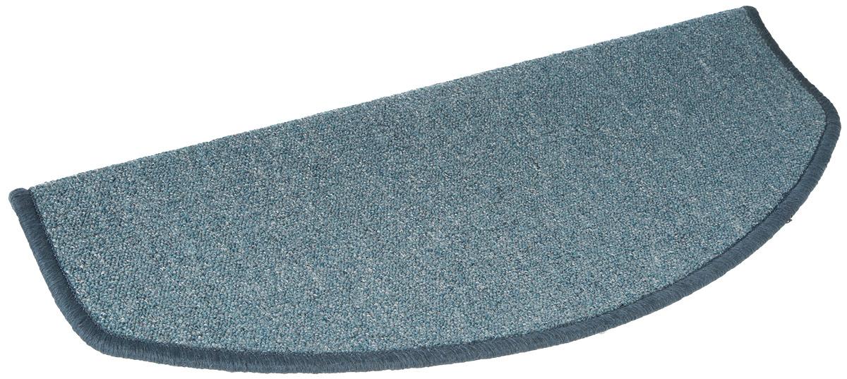 Коврик Vortex, на ступеньку, цвет: серо-голубой, 25 х 65 см плед absolute цвет голубой 150 х 200 см 65695