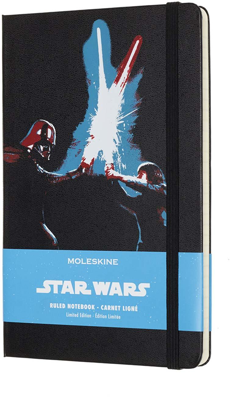 Moleskine Блокнот Star Wars Limited Edition Lightsaber Duel 240 листов в линейку цвет черный цена