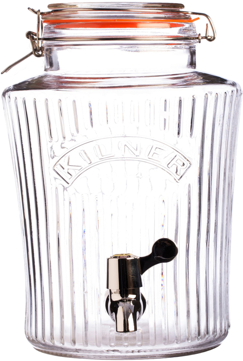 Диспенсер объемом 8 литров незаменим для вечеринок дома или на открытом воздухе. Он отлично подойдет для сервировки любых освежающих напитков: сок, лимонад, фруктовая вода, пунш, лонг-айленд ти, мохито. Диспенсер выполнен в ретро-стиле из стекла и украшен большим логотипом бренда Kilner. Он оснащен краном из нержавеющей стали и удобной плотно закрывающейся крышкой. Диспенсер для холодных напитков особенно пригодится в жаркое время года. Он упакован в красивую коробку и станет отличным подарком.  Особенности: - объем 8 л, - в емкость не рекомендуется наливать кипяток, - необходимо мыть вручную, - рекомендуется промыть перед первым использованием.