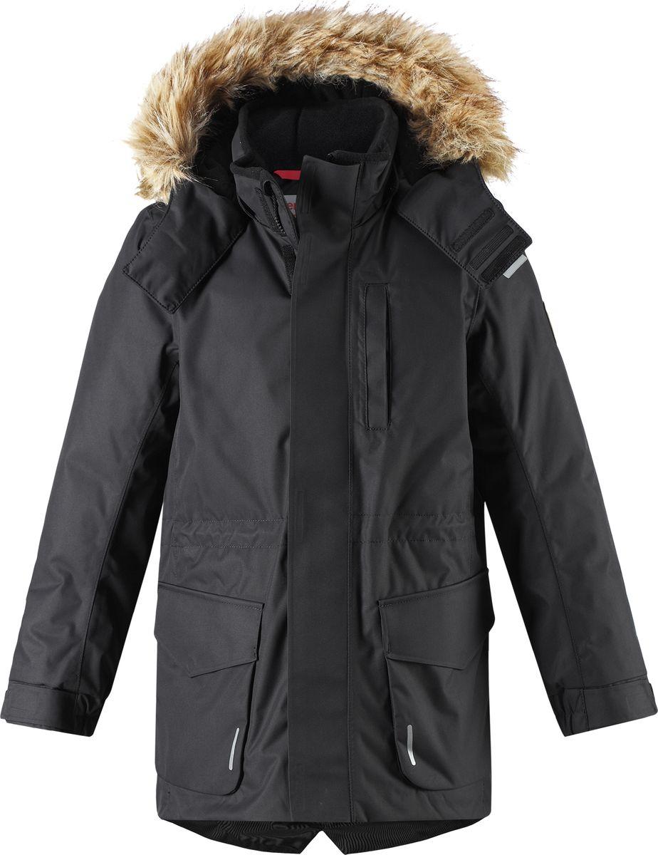 Куртка детская Reima Reimatec Naapuri, цвет: черный. 5313519990. Размер 158