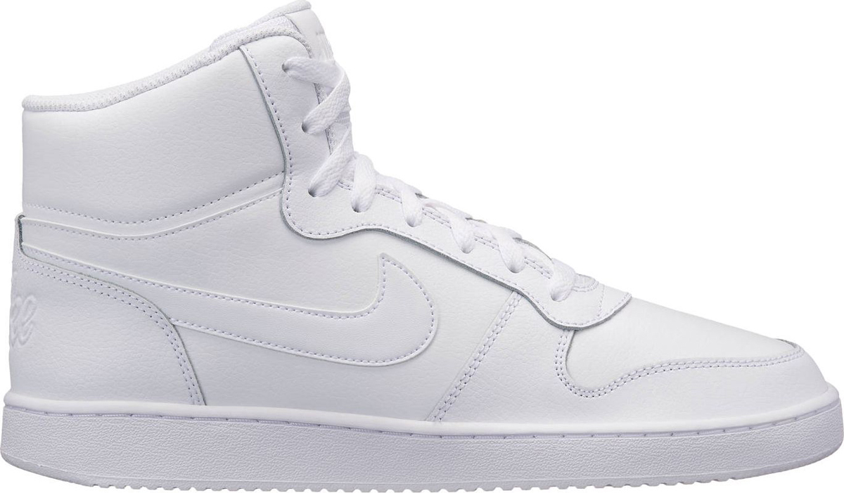 Кеды мужские Nike Ebernon Mid, цвет: белый. AQ1773-100. Размер 9 (41,5)