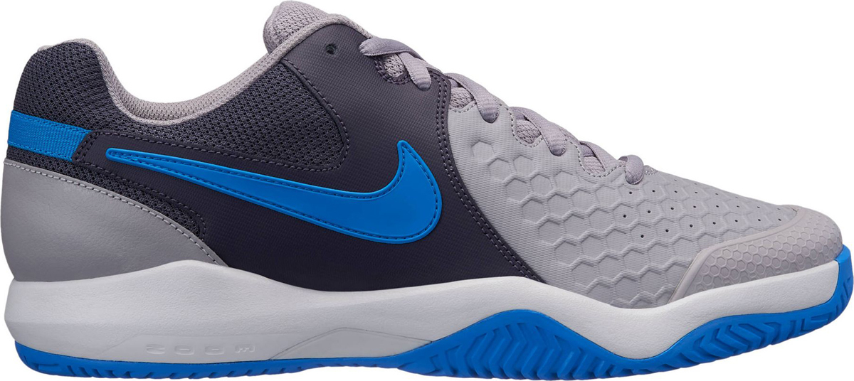 Кроссовки мужские Nike Air Zoom Resistance Tennis, цвет: серый, синий. 922064-049. Размер 12 (45) кроссовки nike air zoom structure 21 shield 907324 001