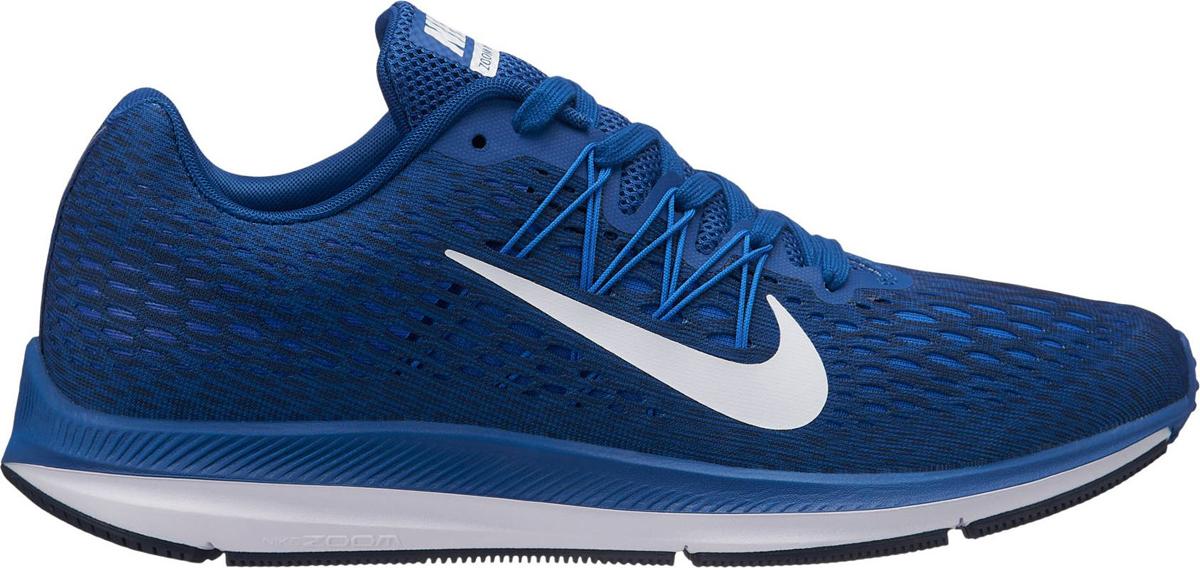 Кроссовки мужские Nike Air Zoom Winflo 5, цвет: синий. AA7406-400. Размер 8,5 (41) кроссовки для бега мужские nike air zoom winflo 4 цвет синий 898466 403 размер 12 5 46