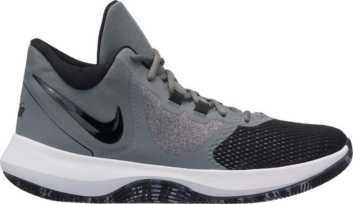 Кроссовки мужские Nike Precision II, цвет: серый, черный. AA7069-011. Размер 10,5 (43,5)