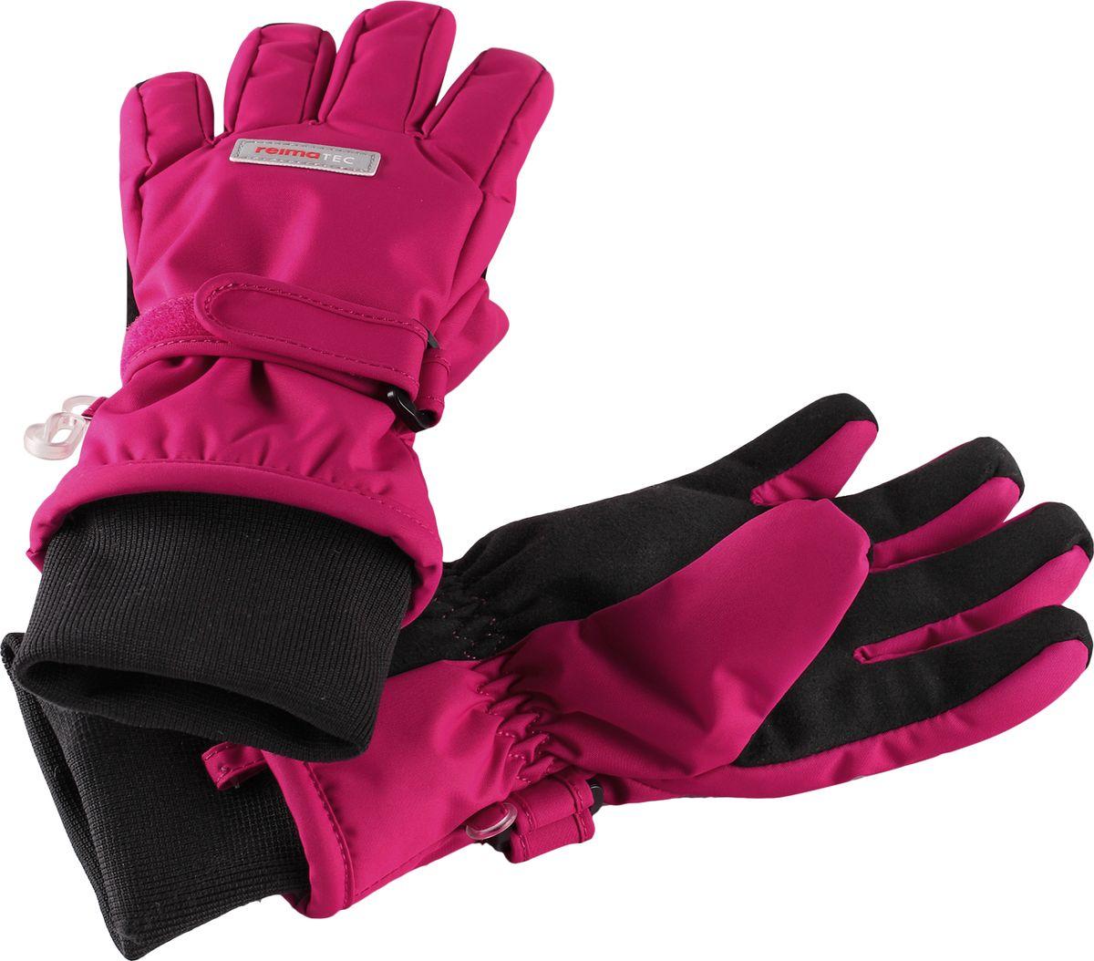 Перчатки детские Reima Reimatec Tartu, цвет: розовый. 5272893600. Размер 6
