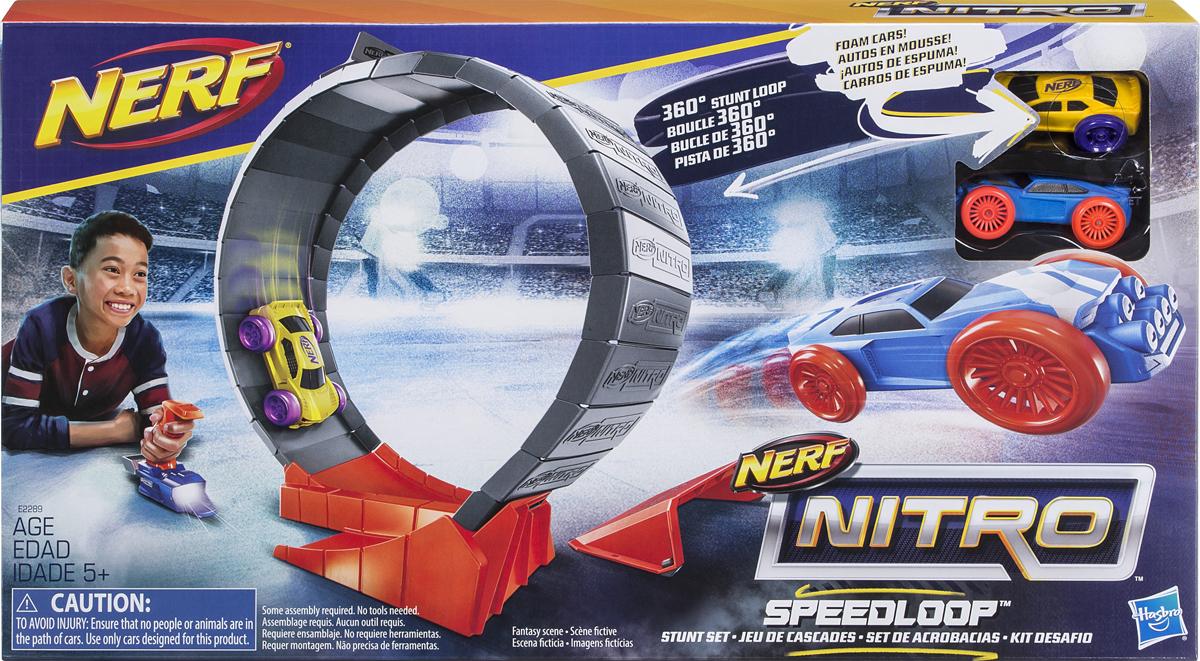 Nerf Игровой набор Нитро Петля набор игровой для мальчика poli средний трек с умной машинкой