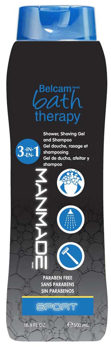 Bath Therapy 3 в 1 Гель для душа, пена для бритья и шампунь Спорт пена для бритья man logona