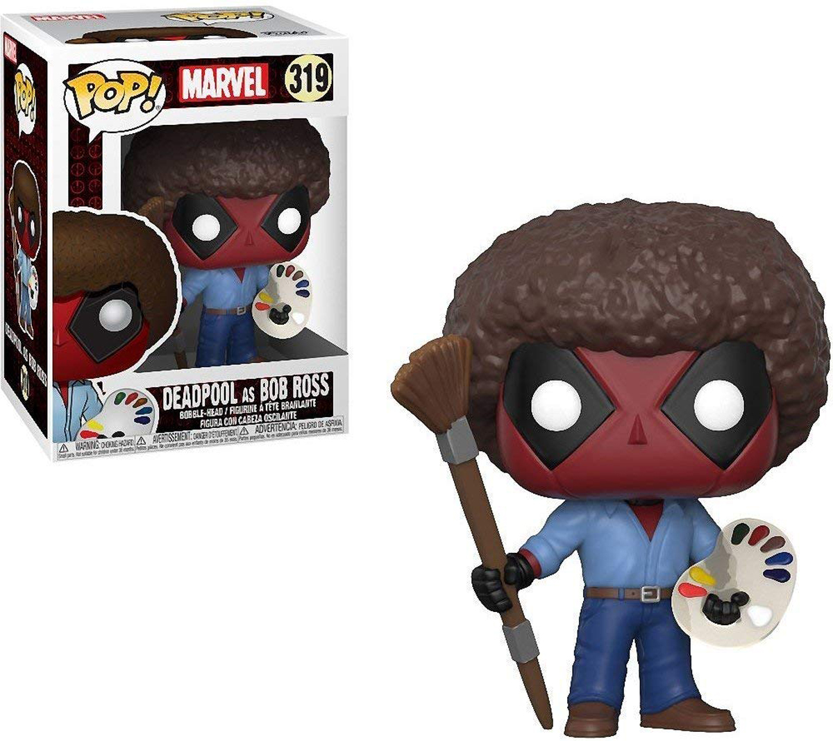 Funko POP! Bobble Фигурка Marvel: Deadpool Playtime Bob Ross 30865